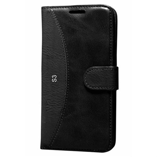 Cep Market Samsung Galaxy S3 Kılıf Standlı Cüzdan (Siyah)