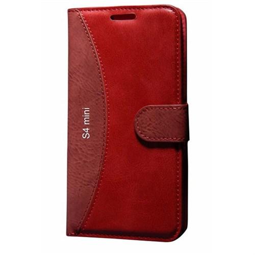 Cep Market Samsung Galaxy S4 Mini Kılıf Standlı Cüzdan (Kırmızı)