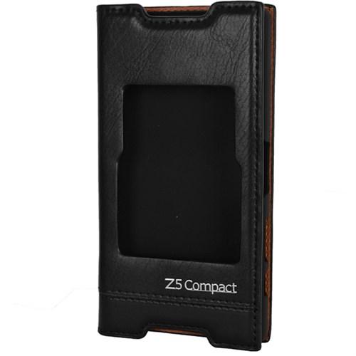Cep Market Sony Xperia Z5 Compact Kılıf Pencereli Milano (Siyah)