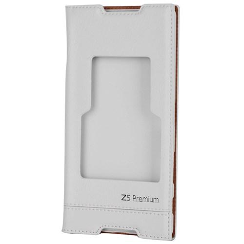 Cep Market Sony Xperia Z5 Premium Kılıf Pencereli Milano (Beyaz)