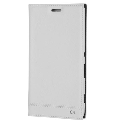 Cep Market Sony Xperia C4 Kılıf Kapaklı Milano (Beyaz)