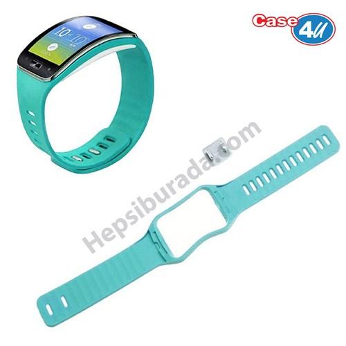 Case 4u Samsung Galaxy Gear S SM R750 Silikon Kayış Mavi