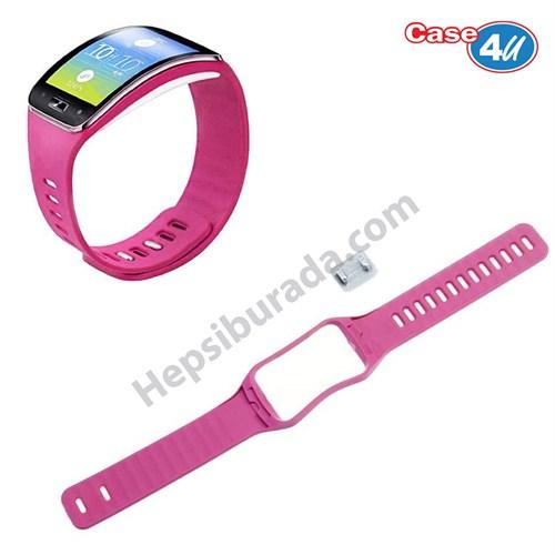 Case 4u Samsung Galaxy Gear S SM R750 Silikon Kayış Pembe