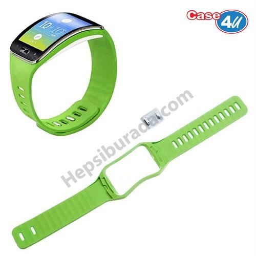 Case 4u Samsung Galaxy Gear S SM R750 Silikon Kayış Yeşil