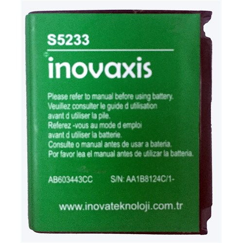 Inovaxis Samsung 5233-G800 S5230c/G808/S7250u Batarya