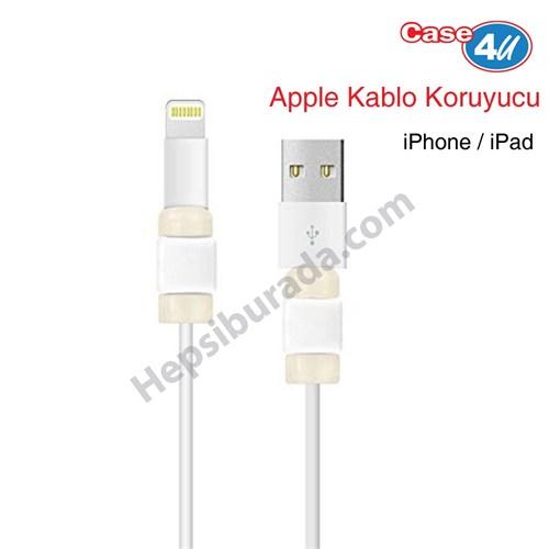Case 4U Apple Kablo Koruyucu Beyaz