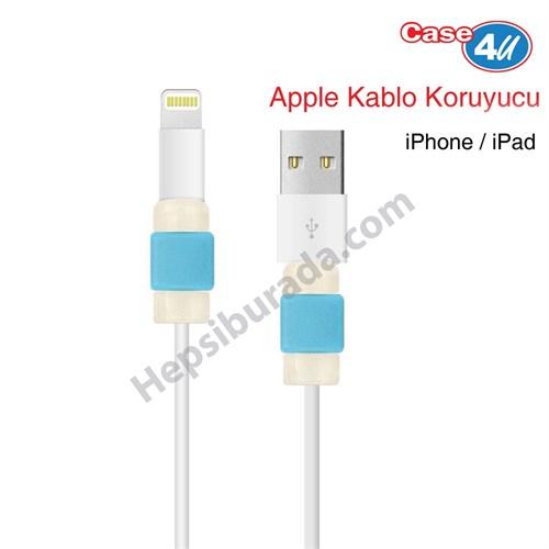 Case 4U Apple Kablo Koruyucu Mavi*