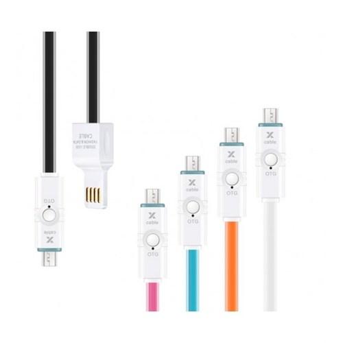 Sfm 2İn2 Otg Ve Micro Usb Data Kablosu Beyaz