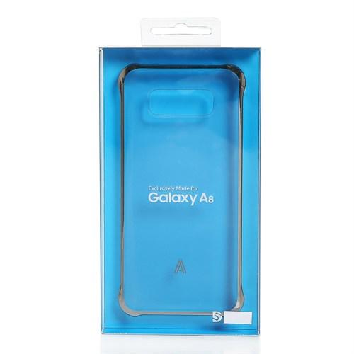Kılıfshop Samsung Galaxy A8 Şeffaf Gümüş Kılıf