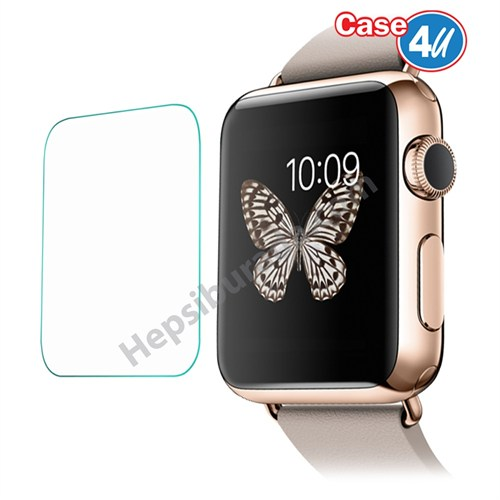Case 4U Apple Watch (38mm) Kırılmaz Cam Ekran Koruyucu
