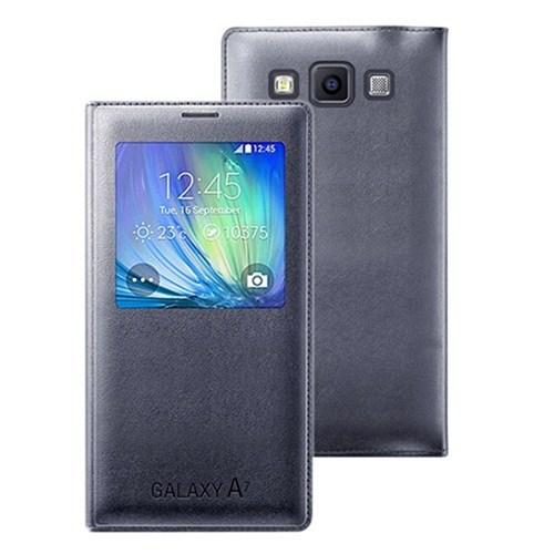 Kılıfshop Samsung Galaxy A7 S View Cover Gri