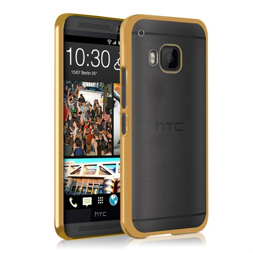 Microsonic Htc One M9 Kılıf Flexi Delux Gold