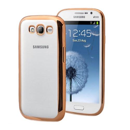 Microsonic Samsung Galaxy Core Prime Kılıf Flexi Delux Gold