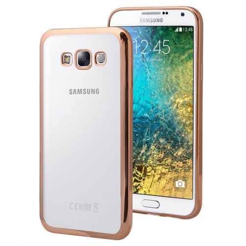 Microsonic Samsung Galaxy E5 Kılıf Flexi Delux Gold