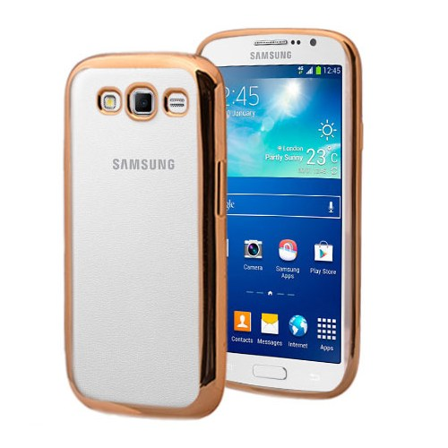 Microsonic Samsung Galaxy Grand 2 Kılıf Flexi Delux Gold