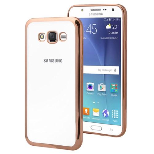 Microsonic Samsung Galaxy J7 Kılıf Flexi Delux Gold