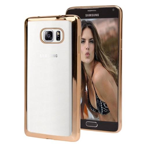 Microsonic Samsung Galaxy Note 5 Kılıf Flexi Delux Gold