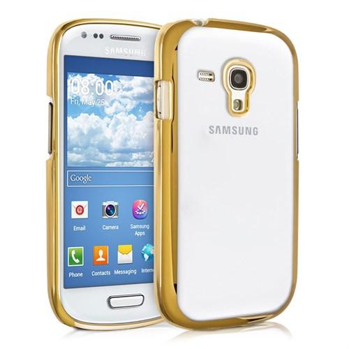 Microsonic Samsung Galaxy S3 Mini Kılıf Flexi Delux Gold
