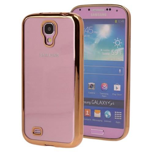 Microsonic Samsung Galaxy S4 Kılıf Flexi Delux Gold