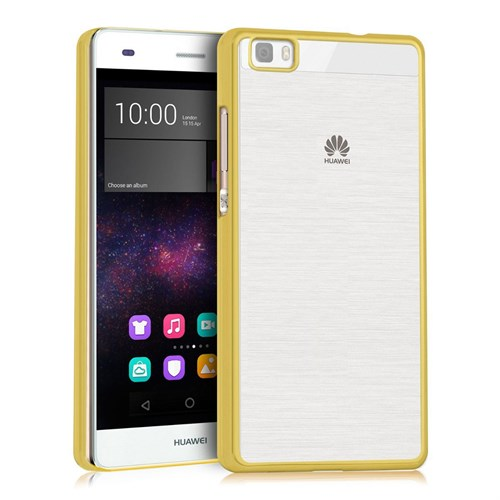 Microsonic Huawei Ascend P8 Lite Kılıf Flexi Delux Gold