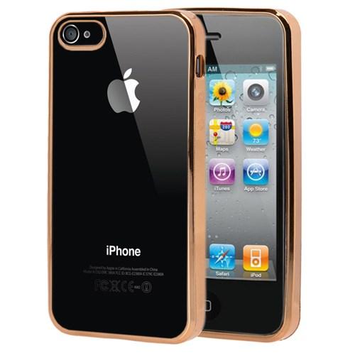 Microsonic Apple İphone 4S Kılıf Flexi Delux Gold