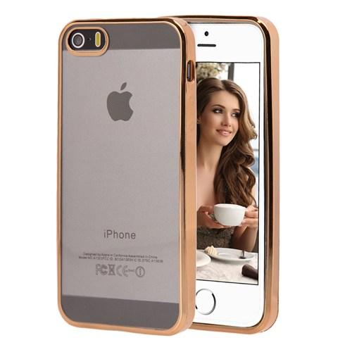 Microsonic Apple İphone 5S Kılıf Flexi Delux Gold