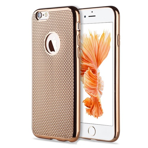 Microsonic İphone 6S Plus Kılıf Electroplate Soft Gold