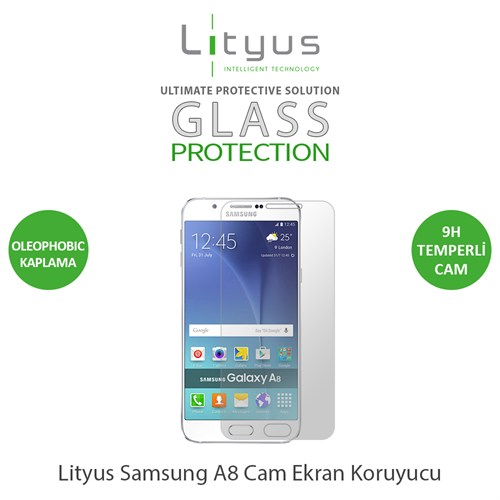 Lityus Samsung Galaxy A8 Cam Ekran Koruyucu
