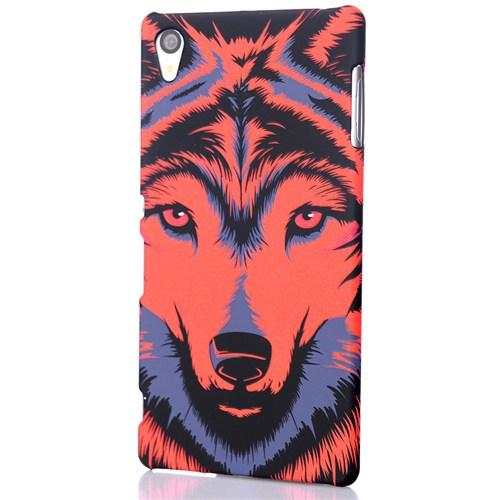 CoverZone Sony Xperia Z5 Kılıf Resimli Kapak Wolf