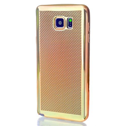 CoverZone Samsung Galaxy Note 5 Kılıf Silikon Metalik Gold
