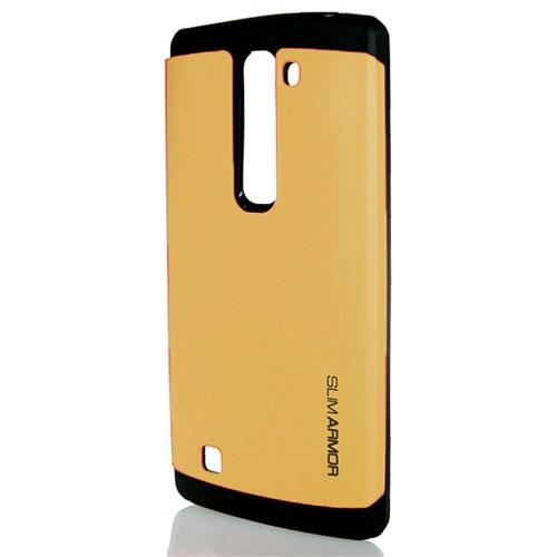 CoverZone Lg G4c Kılıf Silikon Çift Katmanlı Arka Kapak Gold