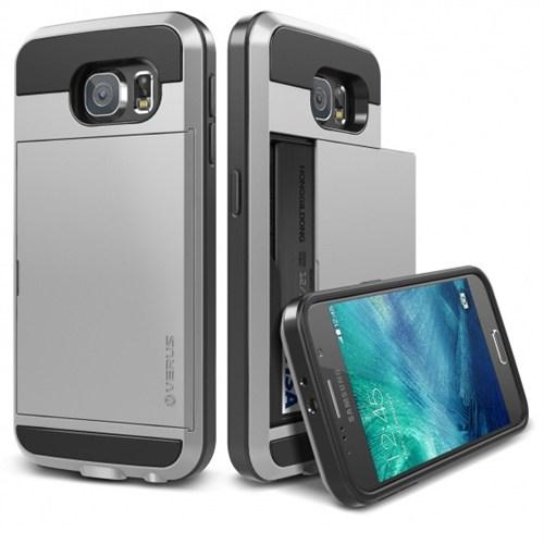 Verus Samsung Galaxy S6 Kılıf Damda Slide Siyah - Gümüş