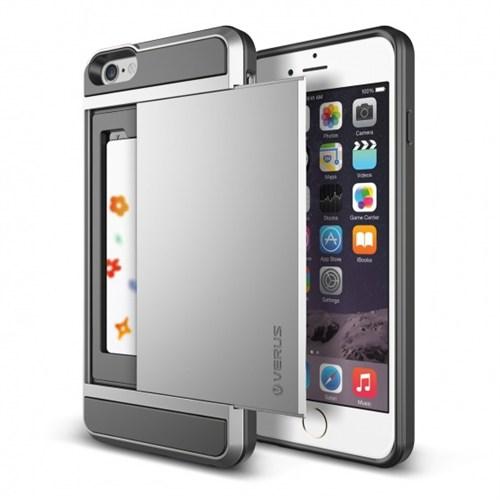 Verus İphone 6S Plus Kılıf Damda Slide Açık Gri