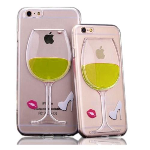 CoverZone Apple İphone 5 - 5S Kılıf Silikon Kadeh Model Sarı