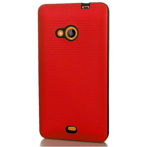 CoverZone Microsoft Lumia 535 Kılıf Silikon Sert Kırmızı