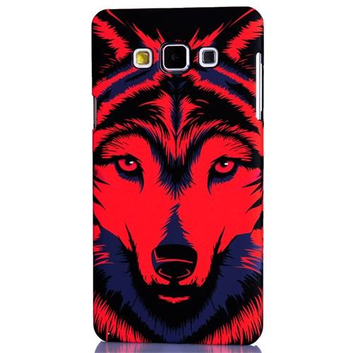 CoverZone Samsung Galaxy A7 2015 Kılıf Resimli Arka Kapak Wolf