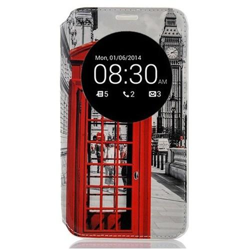 CoverZone Lg G4c Kılıf Akıllı Kapaklı Londra Telefon Kulübesi