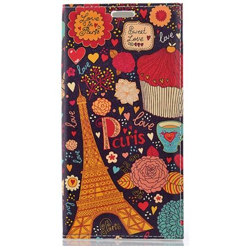 CoverZone Samsung Galaxy S6 Edge Plus Kılıf Kapaklı Paris In Love