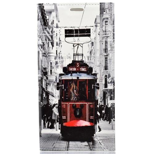 CoverZone Samsung Galaxy S6 Edge Kılıf Kapaklı Taksim Tramvay
