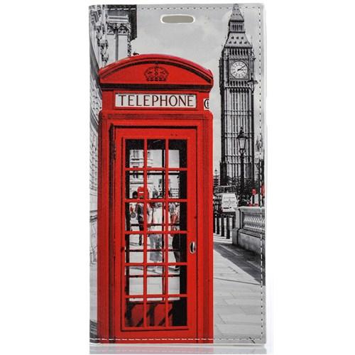 CoverZone Samsung Galaxy S6 Edge Kılıf Kapaklı Londra Telefon Kulübesi