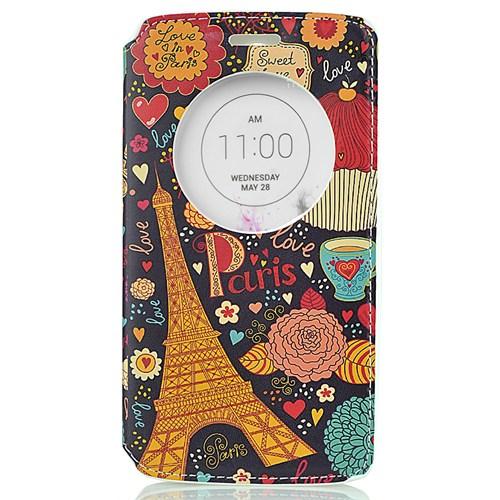 CoverZone Lg G3 Kılıf Akıllı Kapaklı Paris In Love
