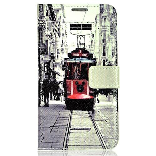 CoverZone Samsung Galaxy Note 3 Neo Kılıf Kapaklı Taksim Tramvay