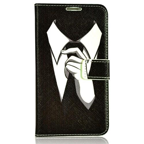 CoverZone Samsung Galaxy Note 3 Neo Kılıf Kapaklı Takım Elbise