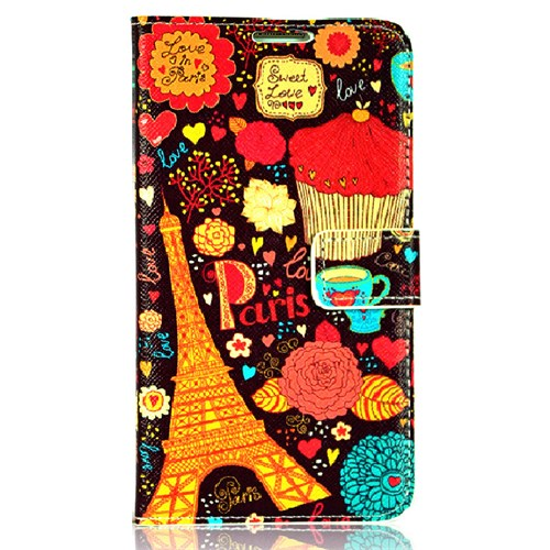 CoverZone Samsung Galaxy Note 3 Neo Kılıf Kapaklı Paris In Love
