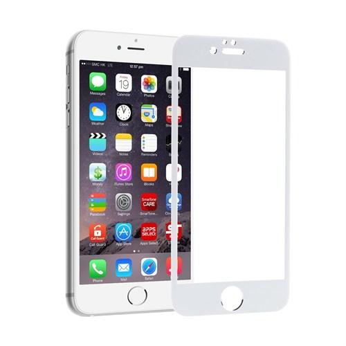 Lopard Apple İphone 6 Kırılmaz Cam Ön Arka Temperli Renkli Ekran Koruyucu Film Beyaz