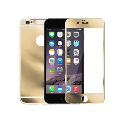 Lopard Apple İphone 6S Plus Kırılmaz Cam Ön Arka Temperli Renkli Ekran Koruyucu Film Gold