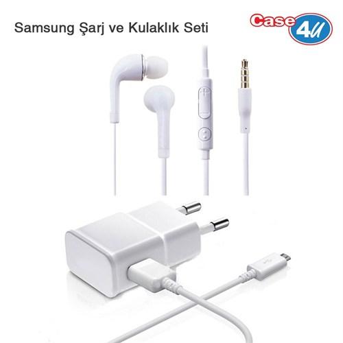 Case 4U Samsung Şarj ve Kulaklık Seti