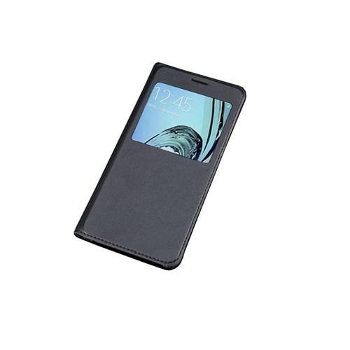 Kılıfshop Samsung Galaxy A3 2016 A310 Pencereli Flip Cover (Siyah)