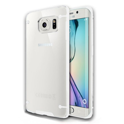 Kılıfshop Samsung Galaxy S6 Edge Plus Silikon Kılıf (Beyaz)