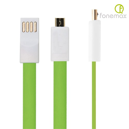 Case 4U Fonemax Micro Usb Kablo Yeşil ( Kopmaz Karışmaz Hızlı Şarj)